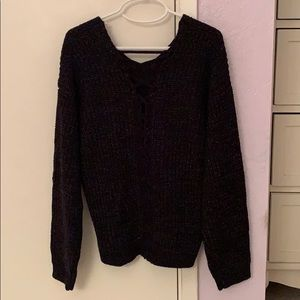 Girls black knitted sweater